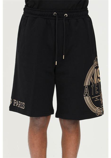 Shorts with maxi side print MAISON 9 PARIS | Shorts | M9S5083NERO