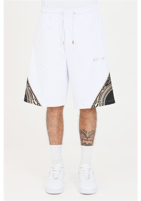 Shorts uomo bianco maison 9 paris casual MAISON 9 PARIS | Shorts | M9S5084BIANCO-ORO