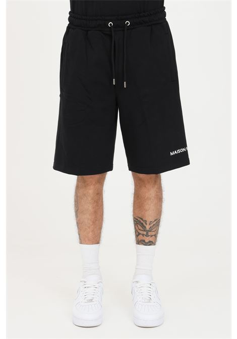Shorts uomo nero maison 9 paris casual MAISON 9 PARIS | Shorts | M9S5090NERO-BIANCO