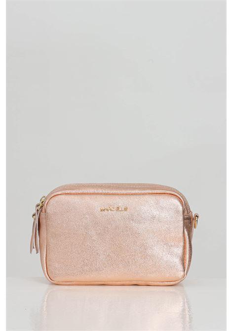 Bronze Allyson bag, real laminated leather surface, Marc Ellis logo. Double zip closure MARC ELLIS | Bag | ALLYSON-PIPERRAME