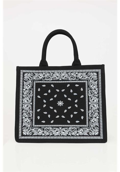Black shopper with embroidered logo on the front. Marc ellis  MARC ELLIS | Bag | BUBY-BANDANANERO/BIANCO