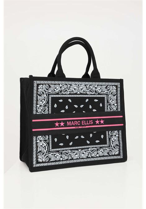 Borsa donna fantasia marc ellis shopper con logo ricamato frontale MARC ELLIS | Borse | BUBY-BANDANANERO/FUXIA