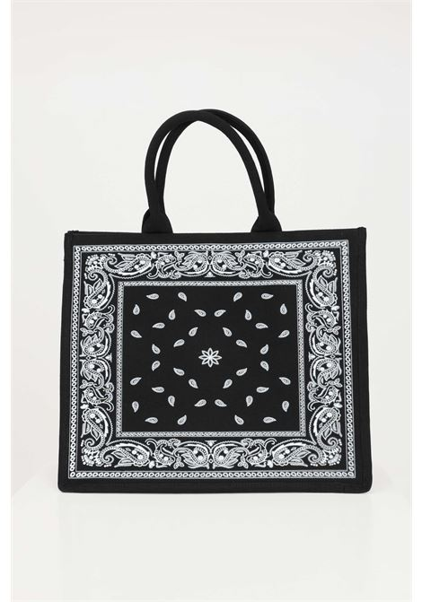Black shopper with embroidered logo on the front. Marc ellis  MARC ELLIS | Bag | BUBY-BANDANANERO/FUXIA