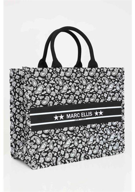 Borsa donna fantasia marc ellis shopper con logo ricamato frontale MARC ELLIS | Borse | BUBY-BANDANANERO