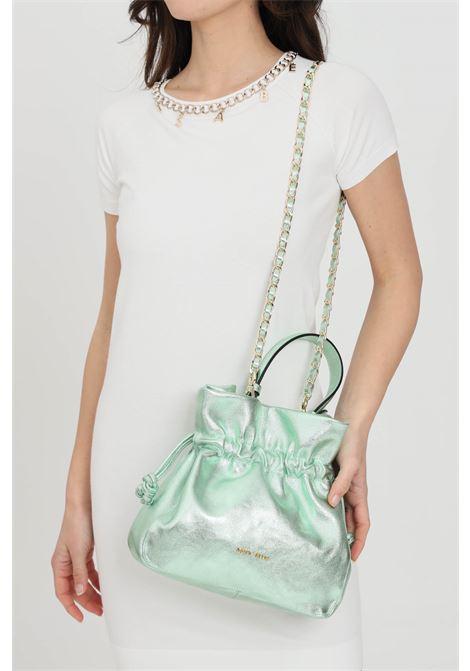 Borsa concy piper donna smeraldo marc ellis modello a mano. Chiusura con coulisse e ciappetta. Manico in pelle e tracolla in pelle e catena MARC ELLIS   Borse   CONCY-PIPERSMERALDO