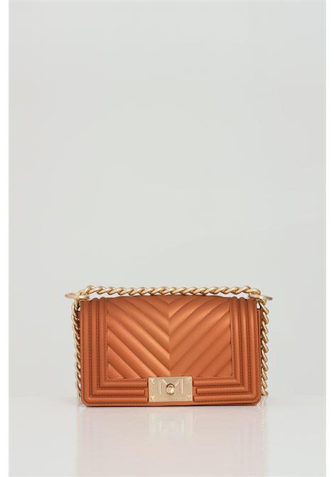 Flat S Bag with gold shoulder strap MARC ELLIS | Bag | FLAT-SBRONZO