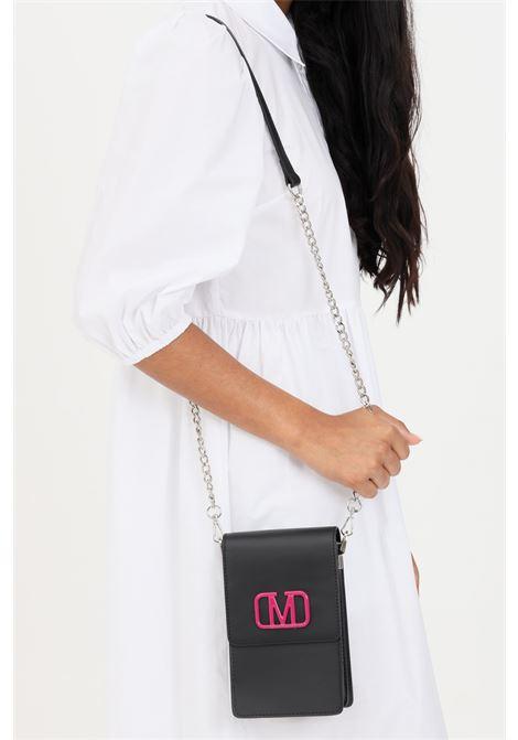 Borsa donna nero marc ellis tracolla removibile in tessuto e catena MARC ELLIS | Borse | FLAT-XNERO