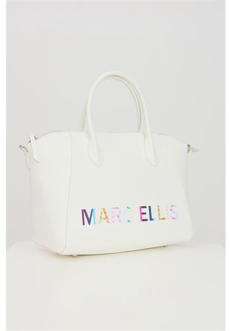 White bag with front logo print. Marc ellis  MARC ELLIS | Bag | IVETTE-MBIANCO