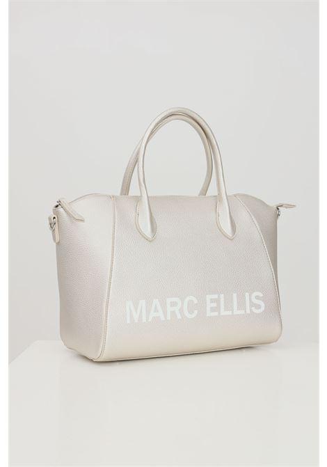 Champagne bag with front logo print. Marc ellis  MARC ELLIS | Bag | IVETTE-MCHAMPAGNE