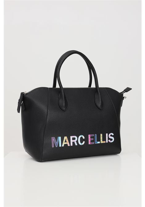 Black bag with front logo print. Marc ellis  MARC ELLIS | Bag | IVETTE-MNERO
