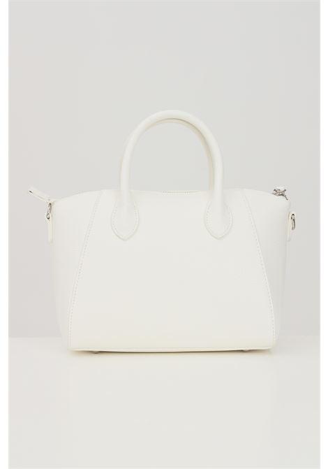 White shoulder bag with multicolor logo print  MARC ELLIS | Bag | IVETTE-SBIANCO