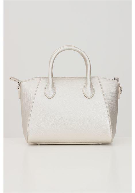 Champagne shoulder bag with contrasting logo print  MARC ELLIS | Bag | IVETTE-SCHAMPAGNE