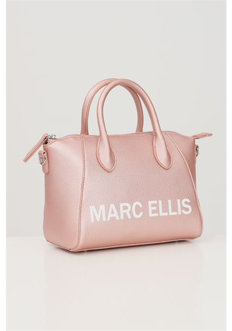 Pink shoulder bag with contrasting logo print. Marc ellis MARC ELLIS | Bag | IVETTE-SROSE