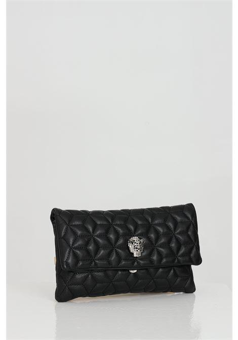 Borsa donna nero marc ellis con tracolla in metallo, effetto trapuntato. Chiusure con calamita e logo frontale in metallo MARC ELLIS   Borse   KRISNERO