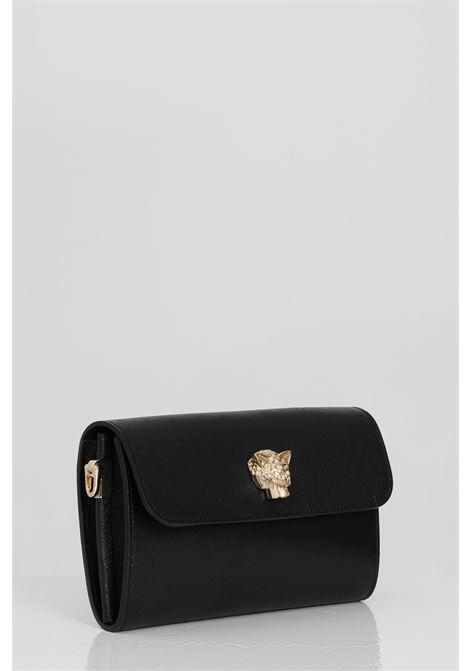 Borsa donna nero marc ellis con tracolla chiusura con magnete. Logo oro gold frontale. Scompartimento interno MARC ELLIS   Borse   NAMANERO