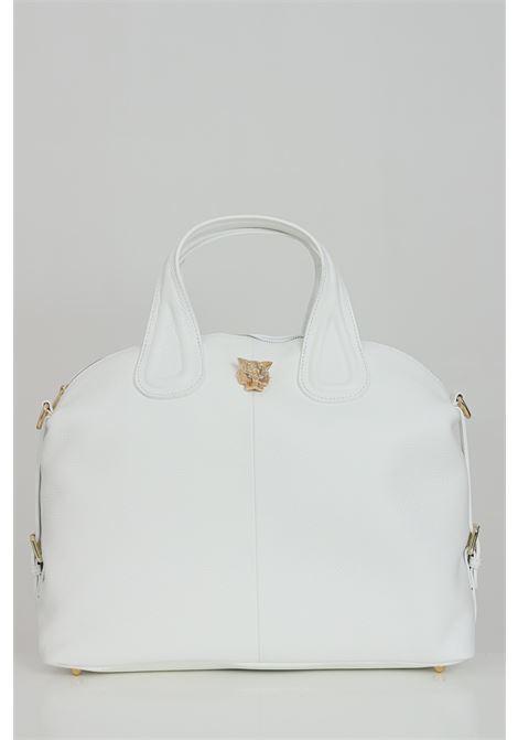 White Noah shopper, shoulder strap with chain and inner pocket. Model with swing. Marc ellis MARC ELLIS | Bag | NOAHBIANCO