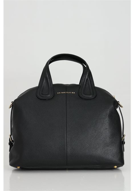 Black Noah shopper, shoulder strap with chain and inner pocket. Model with swing. Marc ellis MARC ELLIS | Bag | NOAHNERO