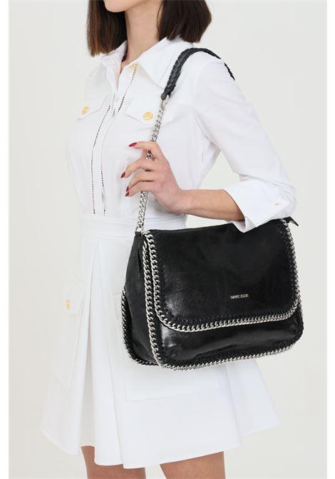 Borsa WINONA-M-VINTAGENERO donna nero marc ellis con tracolla removibile in pelle. Chiusura con bottone a pressione. Catena in metallo sui profili MARC ELLIS | Borse | WINONA-M-VINTAGENERO