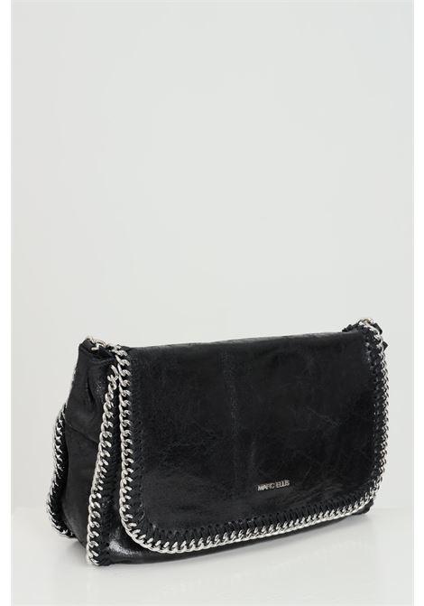 Black WINONA-M-VINTAGENERO bag with removable leather shoulder strap. Snap button closure. Metal chain on the profiles. Marc ellis MARC ELLIS | Bag | WINONA-M-VINTAGENERO