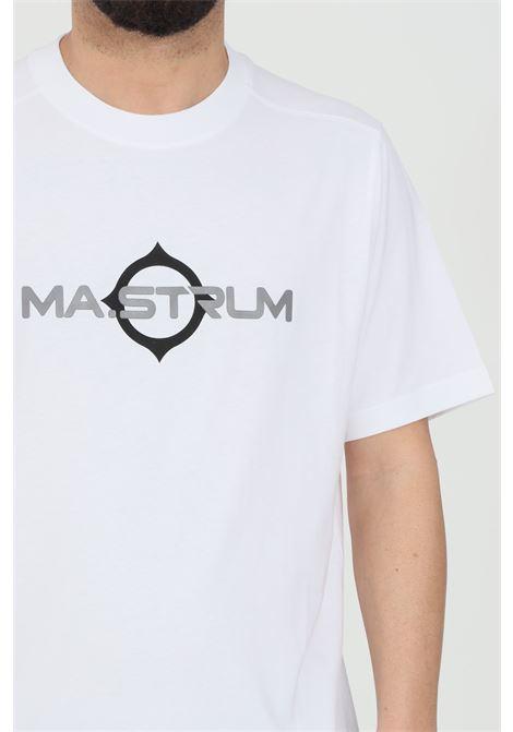 T-shirt uomo bianco Ma.strum a manica corta e stampa sul fronte MA.STRUM | T-shirt | MAS8369M100