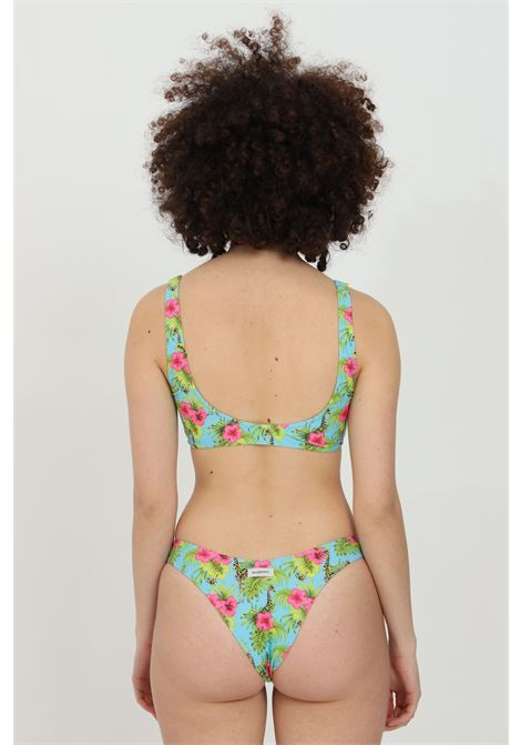Beachwear costume donna multicolor matinee bikini completo con stampa tropical. Senza chiusure. Vestibilità slim MATINèE | Beachwear | CB2040GIRAFFE-AZZURRO