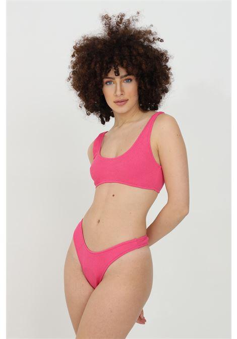 Bikini with cotton weft, solid color MATINèE | Beachwear | CB2042FUXIA
