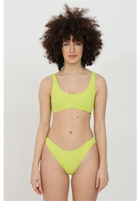 Beachwear costume donna giallo matinee bikini completo con trama in cotone. Senza chiusure. Top a fascia MATINèE | Beachwear | CB2042GIALLO