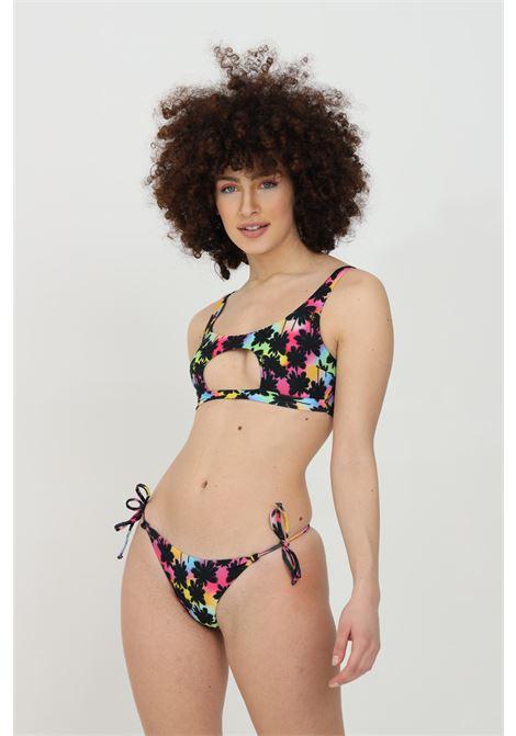 Beachwear costume donna multicolor matinee bikini completo con stampa summer e intaglio centrale. Chiusura laterale con fiocco MATINèE | Beachwear | CB2043PALME