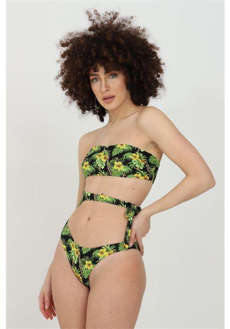 Beachwear donna multicolor matinee costume intero con intagli frontali e stampa flower MATINèE | Beachwear | CB2050GIRAFFE-NERO