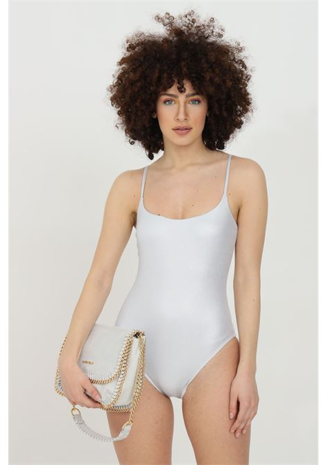 Silver one piece swimsuit with glitter. No closures. Slim fit. Matinee MATINèE | Beachwear | CB2054ARGENTO
