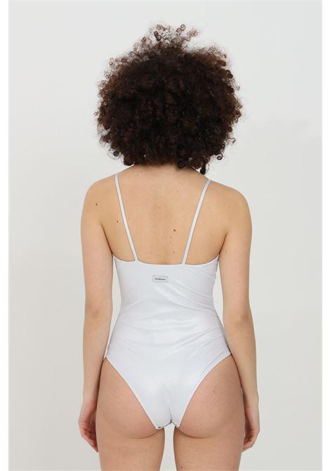 Beachwear donna argento matinee costume intero a costine con glitter. Senza chiusure. Vestibilità slim MATINèE | Beachwear | CB2054ARGENTO