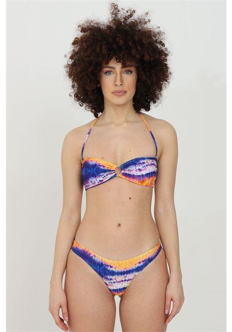 Beachwear costume donna multicolor matinee bikini completo con stampa fantasy e anello frontale MATINèE | Beachwear | CB2065.