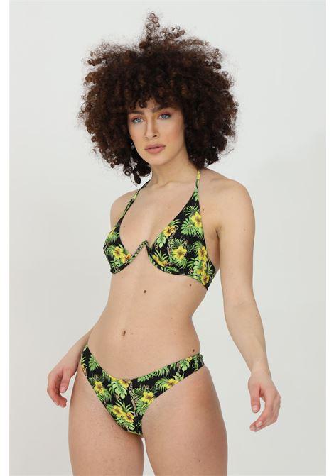 Beachwear costume donna floreale matinee bikini completo con ferretto e stampa flower. Modello brasiliana e chiusura con fiocco sul retro MATINèE | Beachwear | CB2072GIRAFFE-NERO