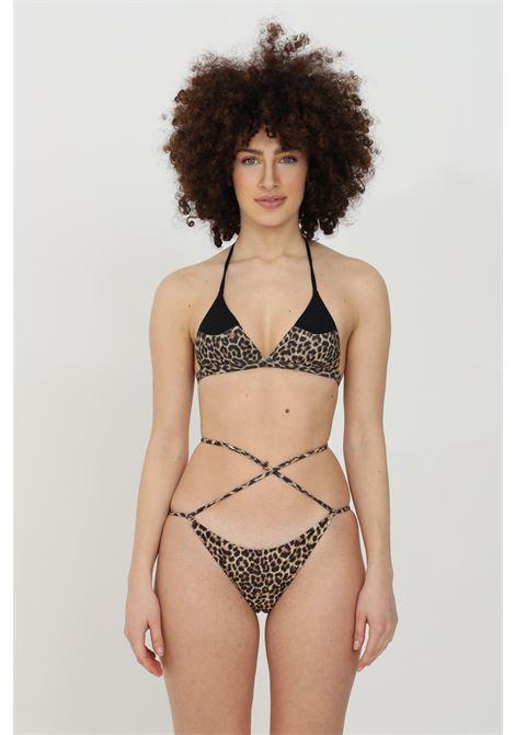 Leopard sea slip with laces at the waist. Brazilian model, slim fit. Matinee MATINèE | Beachwear | EM2089MACULATO