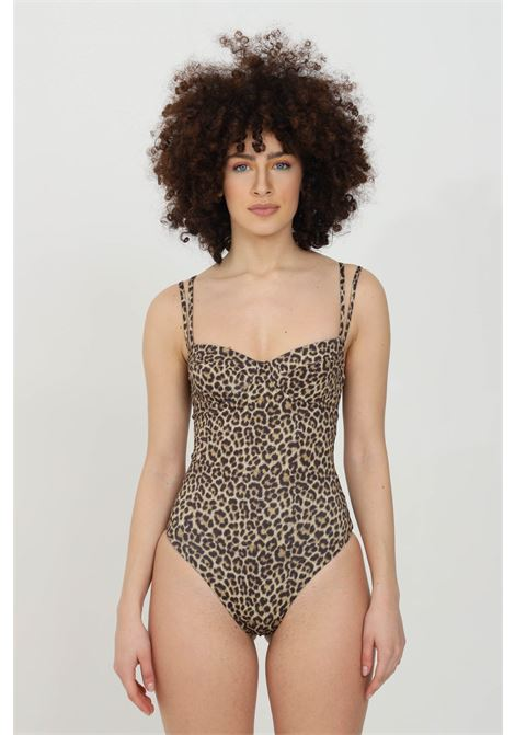 Leopard one piece swimsuit with underwire and double brace. Animal print and open back. Matinee  MATINèE | Beachwear | EM2093MACULATO