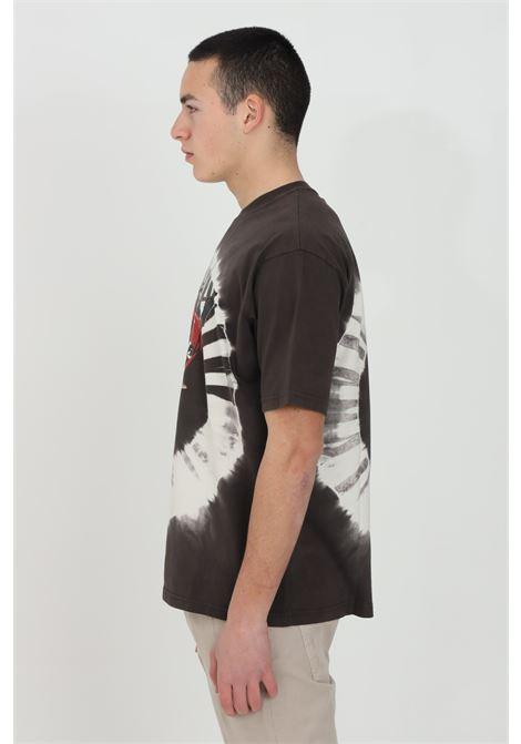 T-shirt uomo multicolor Mauna-kea a manica corta e stampa maxi sul fronte MAUNA-KEA | T-shirt | MKU110SC24