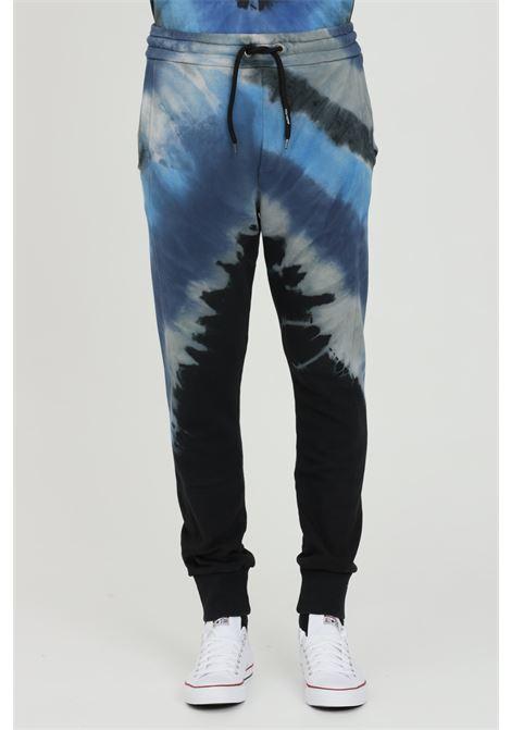 Pantaloni uomo nero Mauna-kea con stampa multicolor blue MAUNA-KEA | Pantaloni | MKU228SA2118