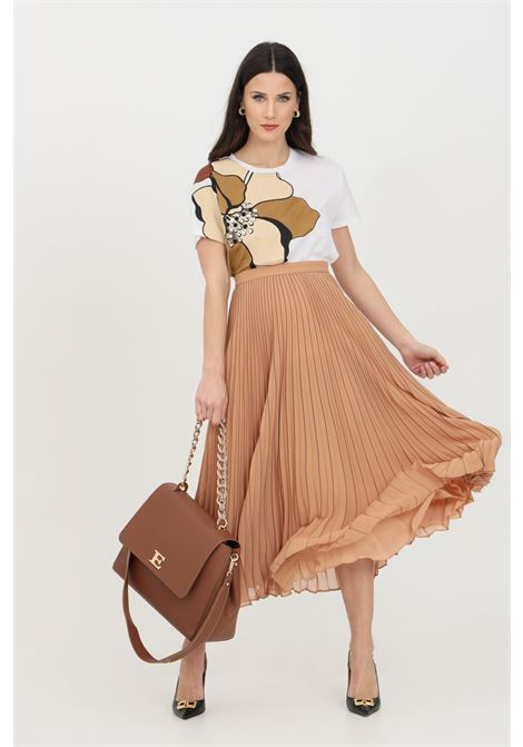 Caramel skirt with wide bottom and high waist. Elastic waistband and zip closure on the back. Comfortable model. Max Mara MAX MARA | Skirt | 61010611600028