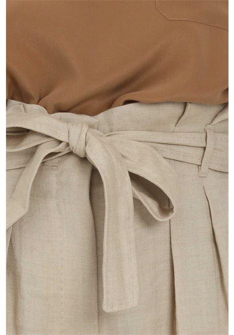 Beige palace pants with curls at the waist. Max Mara MAX MARA | Pants | 61310211600001