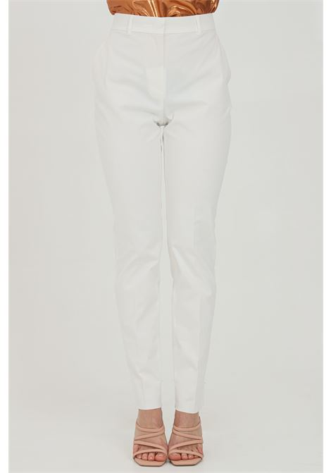White pants, cigarette model. Closure with button and zip. Max Mara MAX MARA | Pants | 61310311600001