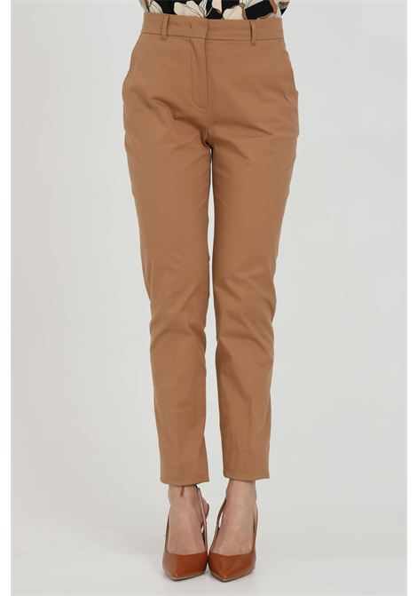 Caramel pants, cigarette model. Closure with button and zip. Max Mara MAX MARA | Pants | 61310311600031