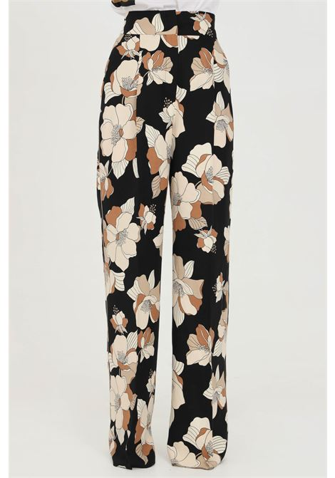 Fantasy pants with high waist and straight bottom, vintage flower print. Max Mara MAX MARA | Pants | 61310811600002
