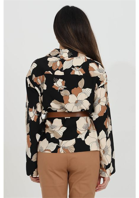 Blouse with flower print and eco- leather belt MAX MARA | Blouse | 61910211600002