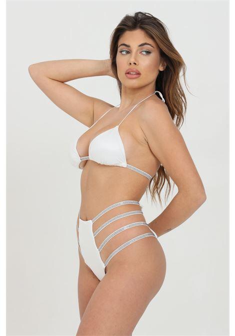 White bikini with rhinestones and cuts. High wiast model. Me fui    ME FUI | Beachwear | M21-0001WHWH