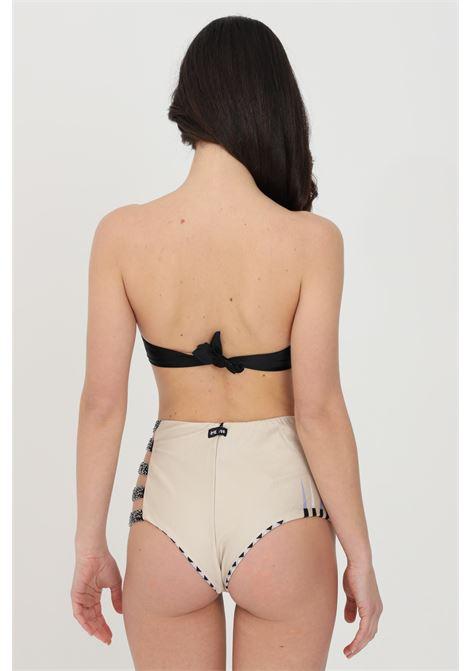 Beachwear costume donna nero me fui bikini completo con slip brasiliana. Due colori con stampa etnica. Top bikini senza bretelle con coppe integrate ME FUI | Beachwear | M21-0252X1X1
