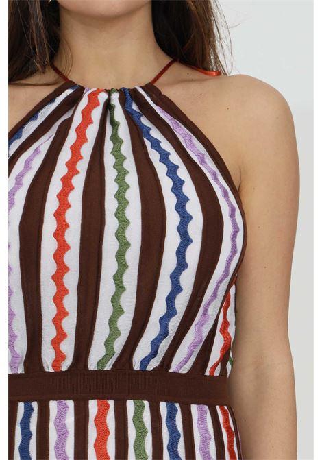 Abito lavorato a maglia con fantasia multicolore MISSONI | Abiti | 2DG00576-2K008SS00H9