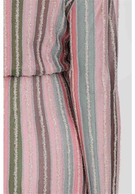 Abito in maglia multicolor con mini frange MISSONI | Abiti | 2DG00586-2K0090L302P