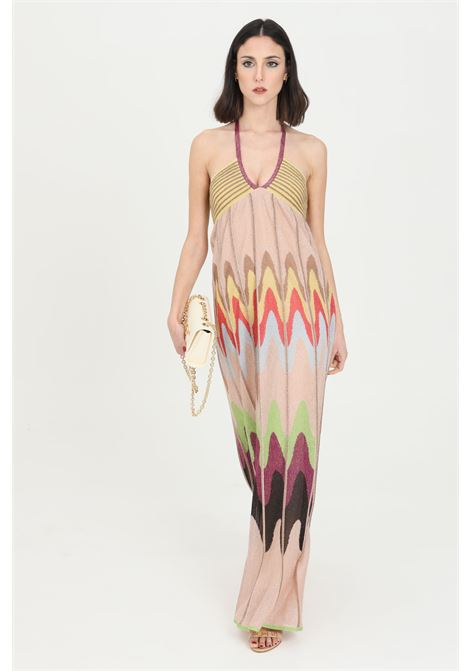 Abito donna multicolor missoni lungo con drappeggio MISSONI | Abiti | 2DG00632-2K009DL302V