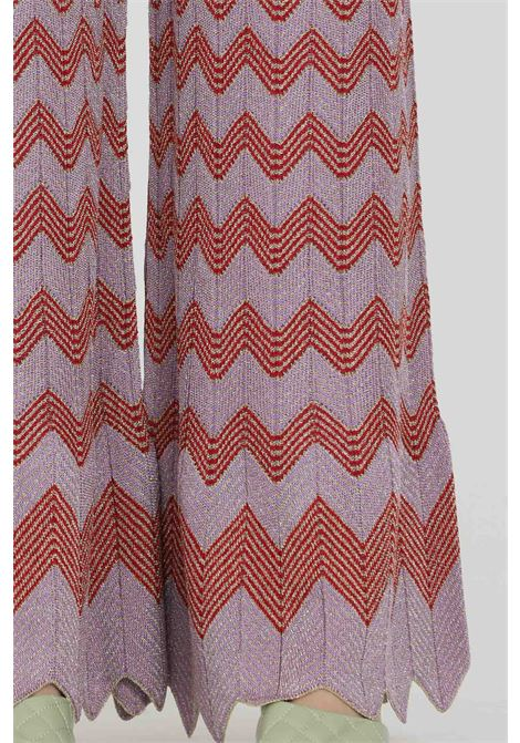 Multicolor trousers, palace model with cuts on the bottom and elastic waistband. Weft in lurex. Increasing geometric print. Missoni MISSONI   Pants   2DI00283-2K0094L501G
