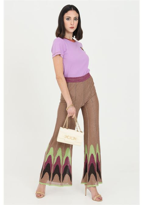 Multicolor trousers with wide bottom. Multicolor zigzag print on the bottom. Missoni MISSONI | Pants | 2DI00306-2K009DL302V